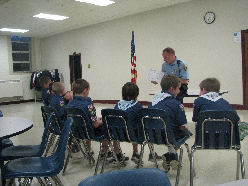 Visit with Cub Scouts